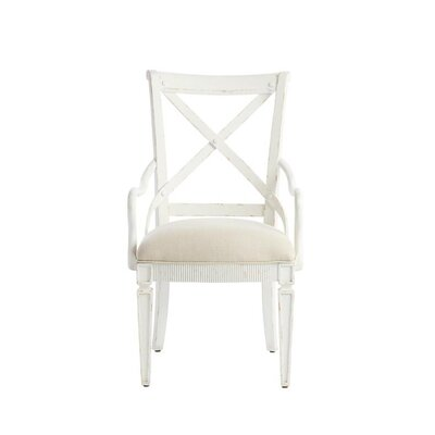 Juniper Dell Arm Chair Color: 17th Century White