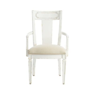 Juniper Dell Contemporary Arm Chair Finish: 17th Century White