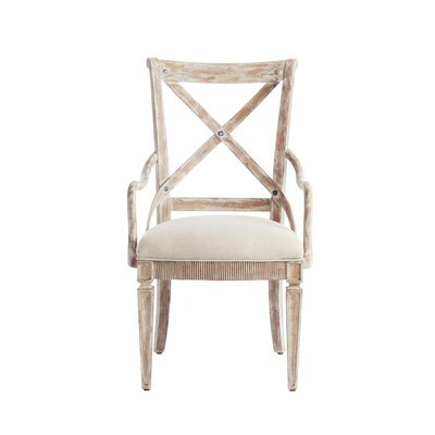 Juniper Dell Arm Chair Finish: English Clay