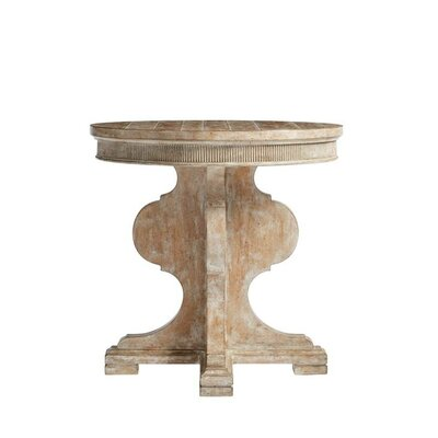 Juniper Dell Round End Table Finish: English Clay