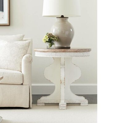Juniper Dell Round End Table Finish: 17th Century White