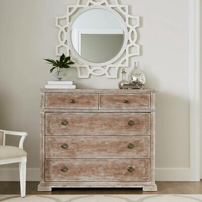 Juniper Dell 5 Drawer Media Chest Finish: English Clay
