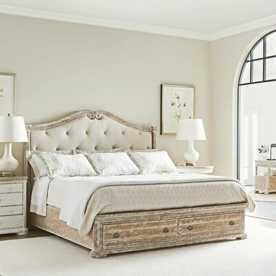 Juniper Dell Upholstered Storage Platform Bed Size: King, Color: English Clay