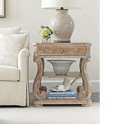 Juniper Dell End Table with Storage Color: English Clay