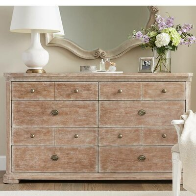 Juniper Dell 8 Drawer Double Dresser Color: English Clay