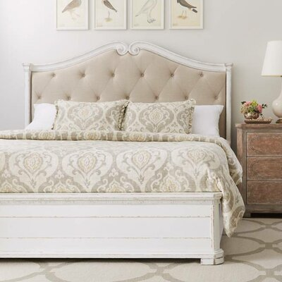Juniper Dell Upholstered Panel Bed Size: Queen, Color: 17th Century White