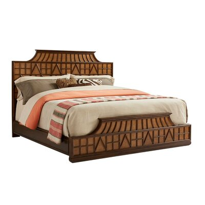 Havana Crossing Amistad Fretwork Panel Bed Size: Queen, Color: Colonial Mahogany