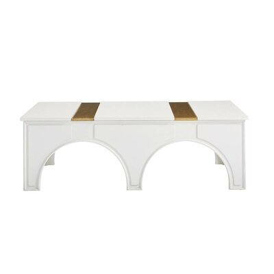 Havana Crossing Portico Coffee Table Color: Finca White