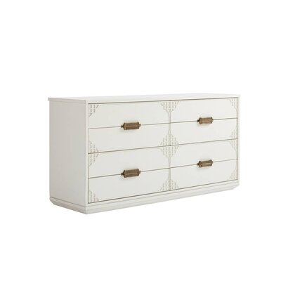 Havana Crossing Copa Colonial 4 Drawer Dresser Color: Finca White