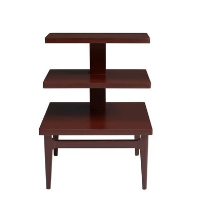 Havana Crossing End Table Color: Masonic Red