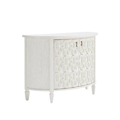 Havana Crossing Console Table Color: Finca White