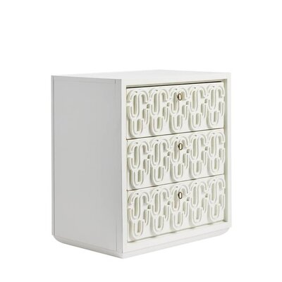 Havana Crossing Cadena 3 Drawer Nightstand Finish: Finca White