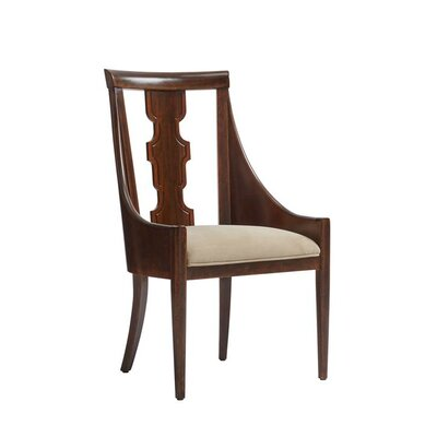 Havana Crossing Baro Upholstered Dining Chair Frame Color: Colonial Mahogany