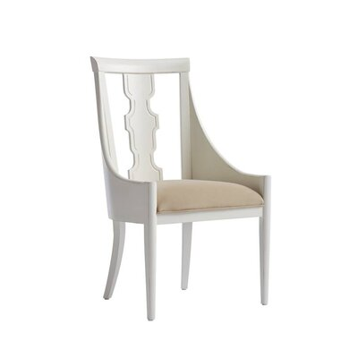 Havana Crossing Baro Upholstered Dining Chair Frame Color: Finca White
