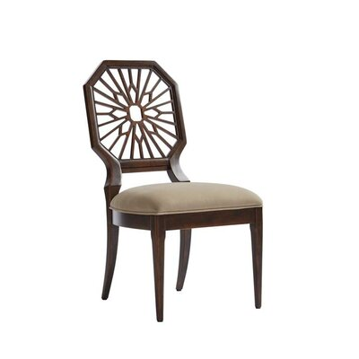 Havana Crossing Lasa Dining Chair Frame Color: Colonial Mahogany