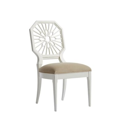 Havana Crossing Lasa Upholstered Dining Chair Frame Color: Finca White