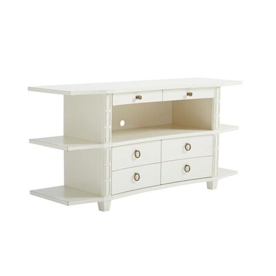 Havana Crossing Correspondents 66 TV Stand Color: Finca White
