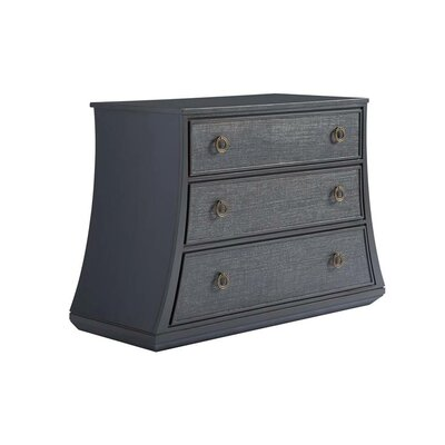 Havana Crossing Cojimar 3 Drawer Bachelors Chest Color: Indigo Blue