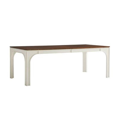 Havana Crossing Concordia Dining Table Base Color: Finca White