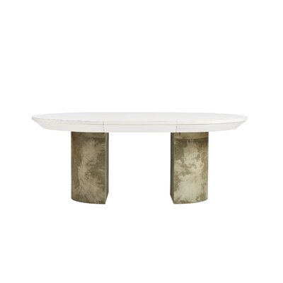 Havana Crossing La Rampa Drop Leaf Dining Table Top Color: Finca White