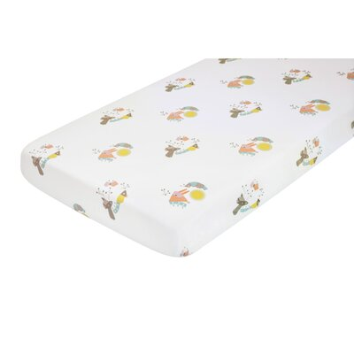 baby gifts store - Nursery Works Menagerie Cotton Percale Flat Crib Sheet - Cot Sheets Baby Bedding