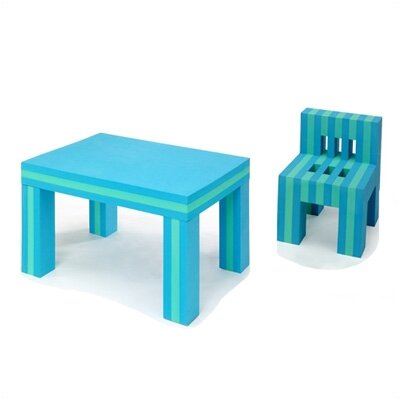 Foam Chair  Single on Offi Eva Kids  Foam Table And Chair Set In Blue Green   Allmodern