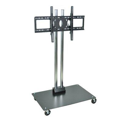 H Wilson Flat Panel Cart TV stand Cart Color: Grey