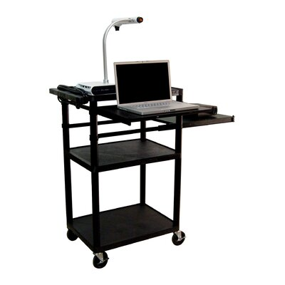 Luxor Plastic Presentation Station in Black with Laptop Shelf at Sears.com