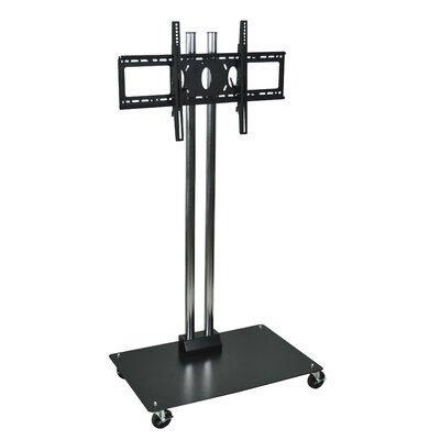 H Wilson Flat Panel Cart TV stand Cart Color: Black