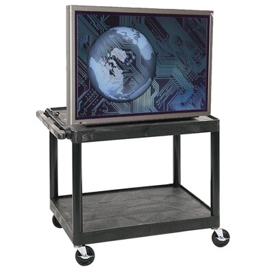 "Luxor 27"" High Open Shelf AV Cart in Black at Sears.com"