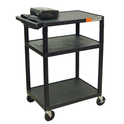 "Luxor 34"" High AV Cart in Black at Sears.com"