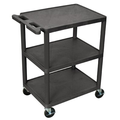 Luxor 32.5'' 3 Shelf Utility Cart - Color: Black at Sears.com