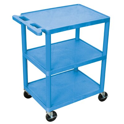 Luxor 32.5'' 3 Shelf Utility Cart - Color: Blue at Sears.com