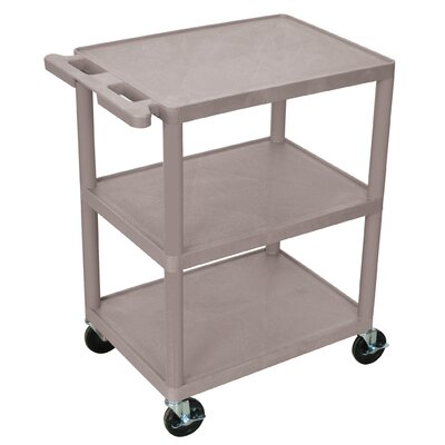 Luxor 32.5'' 3 Shelf Utility Cart - Color: Gray at Sears.com