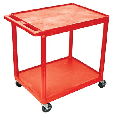 Luxor 34.25'' 2 Shelf Utility Cart - Color: Red at Sears.com