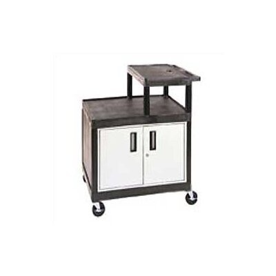 Luxor Stand-Up AV Cart for Large Overhead Projectors with Locking Cabinet (Set of 4) at Sears.com