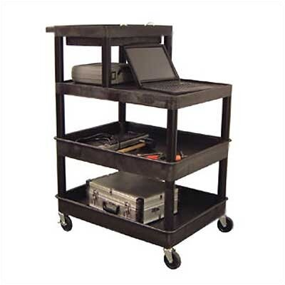 Luxor Stand-Up Tool/Utility Cart with Extra Tub Shelf at Sears.com