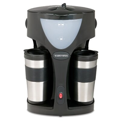 Coffee Maker Into Travel Mug : Twin Coffee Maker With 2 Travel Mugs