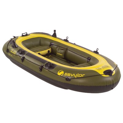 Buy Low Price Sevylor Fish Hunter Inflatable 4 Person Boat (2000003409)