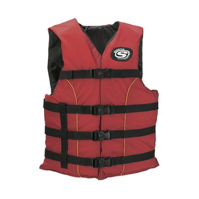 Image of Stearns PFD 5311 Universal Classic Adult Ski Nylon Life Vest in Red (2000006938)