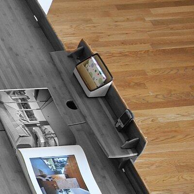 "Driftwood 10"" H x 29"" W Desk Accessory Shelf LEGE-ASGD-110"