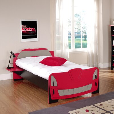 Cheap Legare Kids Race Car Bed in Black and Red (LGR1255)