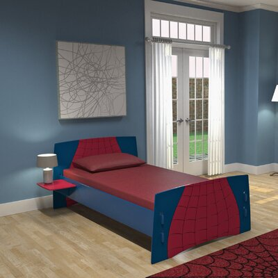 Buy kids furniture - Legare Furniture Legare Kids Spider Twin Bed in Navy and Burgundy