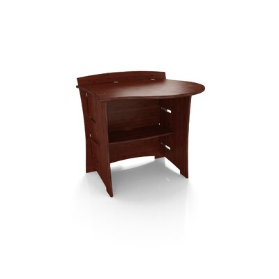 "Legare Furniture Sustainable Series 31"" Computer Desk Peninsula in Carbonized Amber - Finish: Espresso at Sears.com"