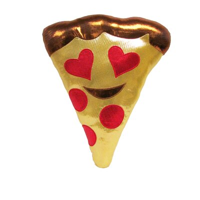 Kalia Heart Eyes Pizza Throw Pillow