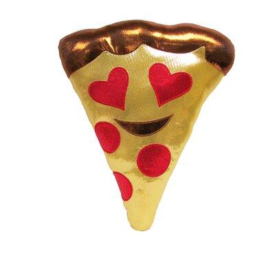 Kalia Heart Eyes Pizza Throw Pillow