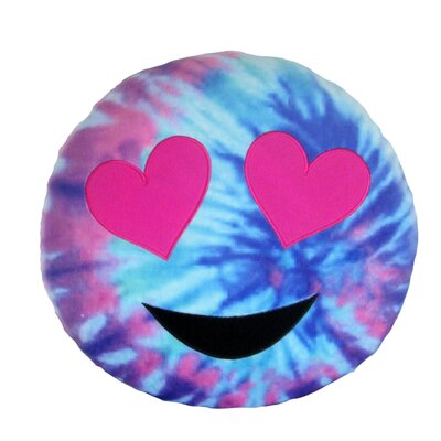 Kalia Tie Die Heart Eyes Throw Pillow