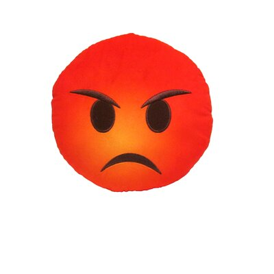 Kalia Angry Face Throw Pillow