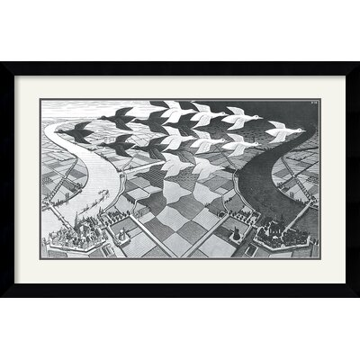 'Day and Night' by M.C Escher Framed Graphic Art