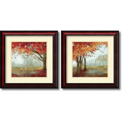 'A Sense of Space' 2 Piece Framed Painting Print Set